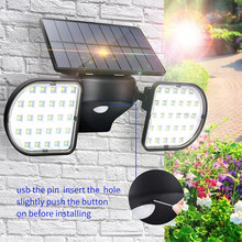 Solar Courtyard Light Waterproof 56leds Human Body Induction Landscape Street Light Lighting Wall Light Villa Home Rotate Led