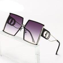 Большие солнцезащитные очки для женщин 2020 Роскошные брендовые