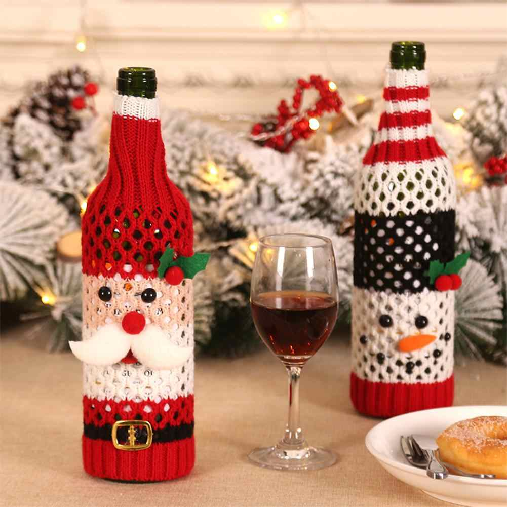 HobbyLane Xmas 2019 1pc Christmas Wine Bottle Snowman Santa Christmas Decoration Bottle Cap Christmas Decoration New Year