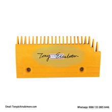 Comb Escalator 130mm Right Hole-Space Plastic 0129CAF001 L202.9mm W100mm 22teeth Yellow