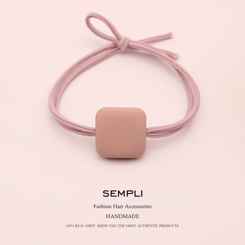 Sempli High Quality Elastic Hair Bands   Headwear   For Women Soft Multicolor Square Girls Rubber Bands Headband Hair Accessories