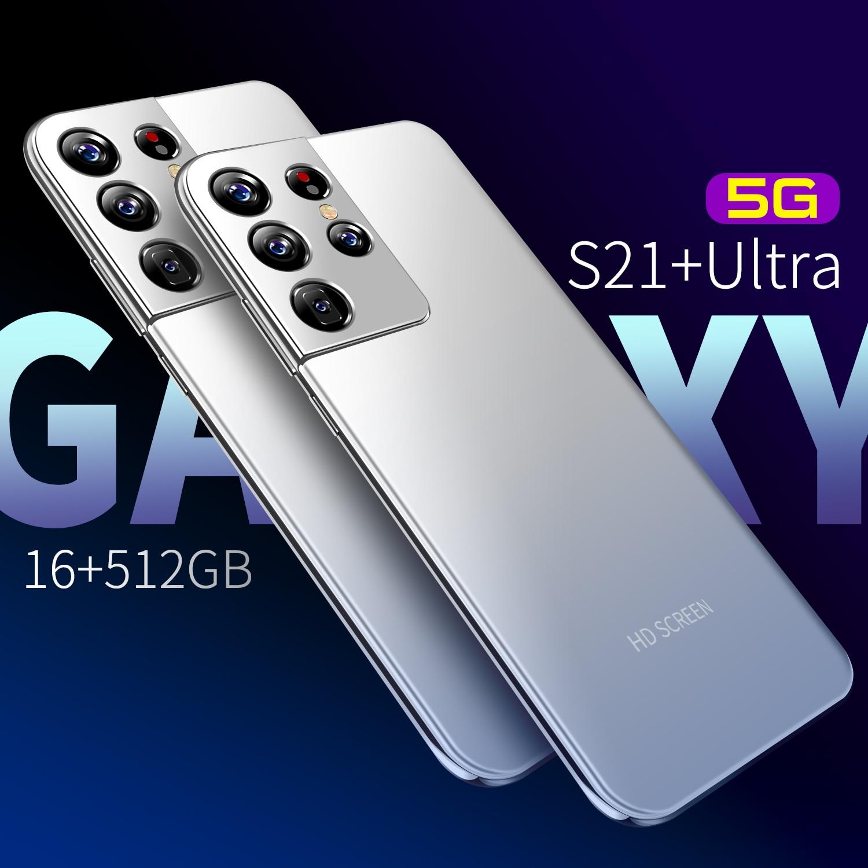 7,3 дюймов Galxy S21 ультра смартфон 16G 512 ГБ 24MP + 48MP Android 10 6800 мА/ч, десять основных действительно MTK6889 4G 5G глобальная версия