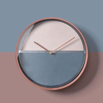 Round Small Wall Clock Kitchen White Nordic Living Room Wall Clock Modern Design Orologio Da Parete Home Decoration KK50WC