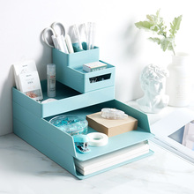 High Quality A4 Paper Organizer Document Plastic Case Office Table Desk Storage Superposition Filling File Box Holder
