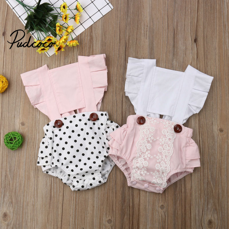 Pudcoco Cute Baby Girls Bodysuits Newborn Baby Clothing For Girls Toddler Infant Autumn Body Suits Patchwork For 0-24M Jumpsuit