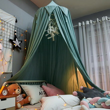 Tassel Hung Dome Mosquito Net Kids Curtain Bedding Dome Tent Decorative Romantic Baby Girl Mosquito Net Bed Cover Bed Canopy