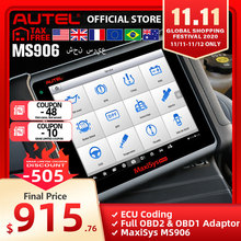 Autel Maxisys MS906 Automotive Diagnostic System Krachtige dan Maxidas DS708 & DS808 Gratis Update Online