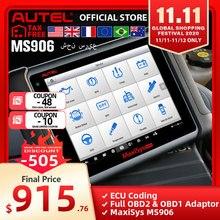Autel maxisys ms906 sistema de diagnóstico automotivo poderoso do que maxidas ds708 & ds808 atualização gratuita online