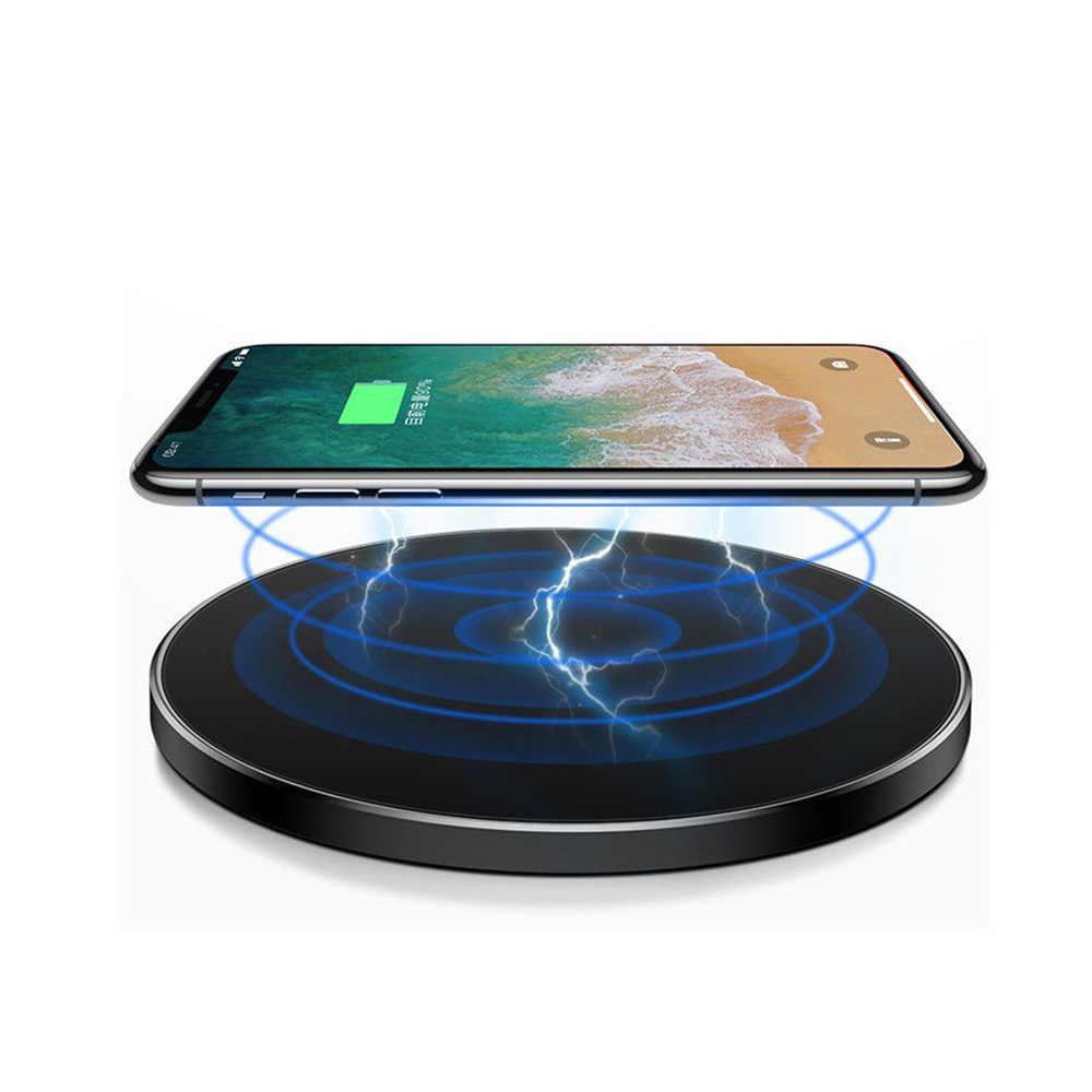 Bezprzewodowa ładowarka 10W Qi dla iPhone X XS XR 8 Plus Huawei P30 P20 Pro szybka bezprzewodowa ładowarka do Samsung S8 S9 S10 Xiaomi mi