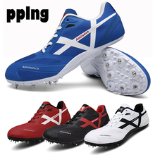 PPLNG men and women track shoes unisex non-slip nail sports sports shoes female female sports student training nail sports shoes