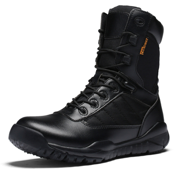 Winter boots Military Army Boots Men Black Leather Desert Combat Work Shoes Winter Mens Ankle Tactical Boot Man Plus Size 38-47 vast wave suede army boot canvas men s military boot male shoes safety motocycle boots combat mens soldier ankle boot tactical 2