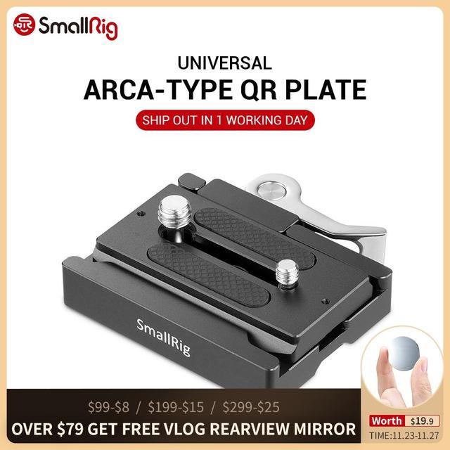 SmallRig DSLR Kamera Quick Release Platte und Clamp ( Arca typ Kompatibel) stativ Einbeinstative Für Kamera Video Schießen 2144