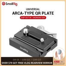 SmallRig DSLR kamera hızlı çıkarma plakası ve kelepçe (Arca tipi uyumlu) tripod monopod kamera Video çekimi için 2144