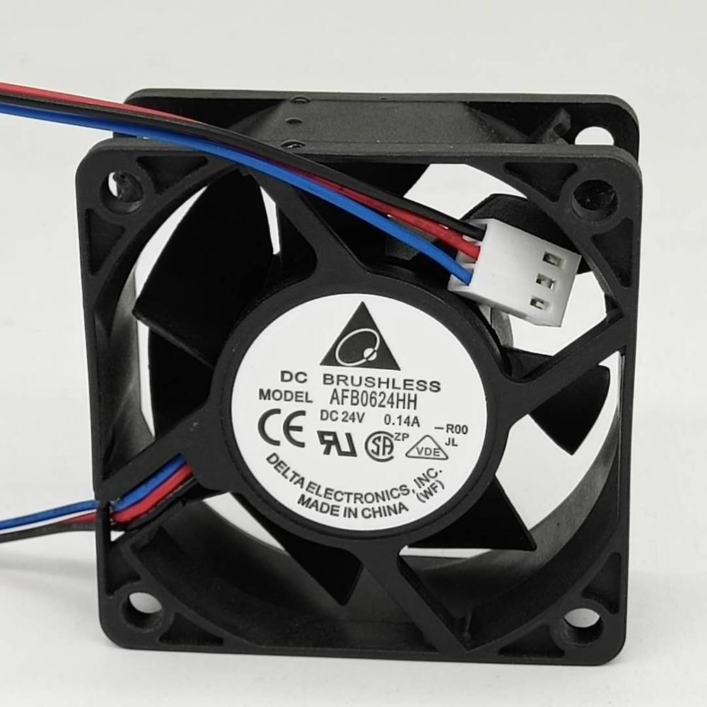 for delta AFB0624HH 6cm 60mm <font><b>60</b></font>*<font><b>60</b></font>*25 <font><b>mm</b></font> 6025 24V 0. 14A server inverter cooler cooling <font><b>fans</b></font> axial image