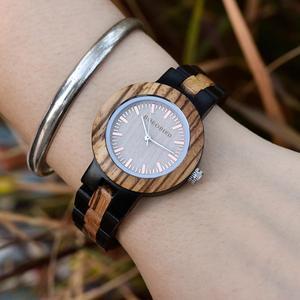 Image 3 - BOBO ptak męskie zegarki Top marka luksusowe heban drewniane zegarek kwarcowy zegarek dla miłośników prezent na rocznicę relojes mujer