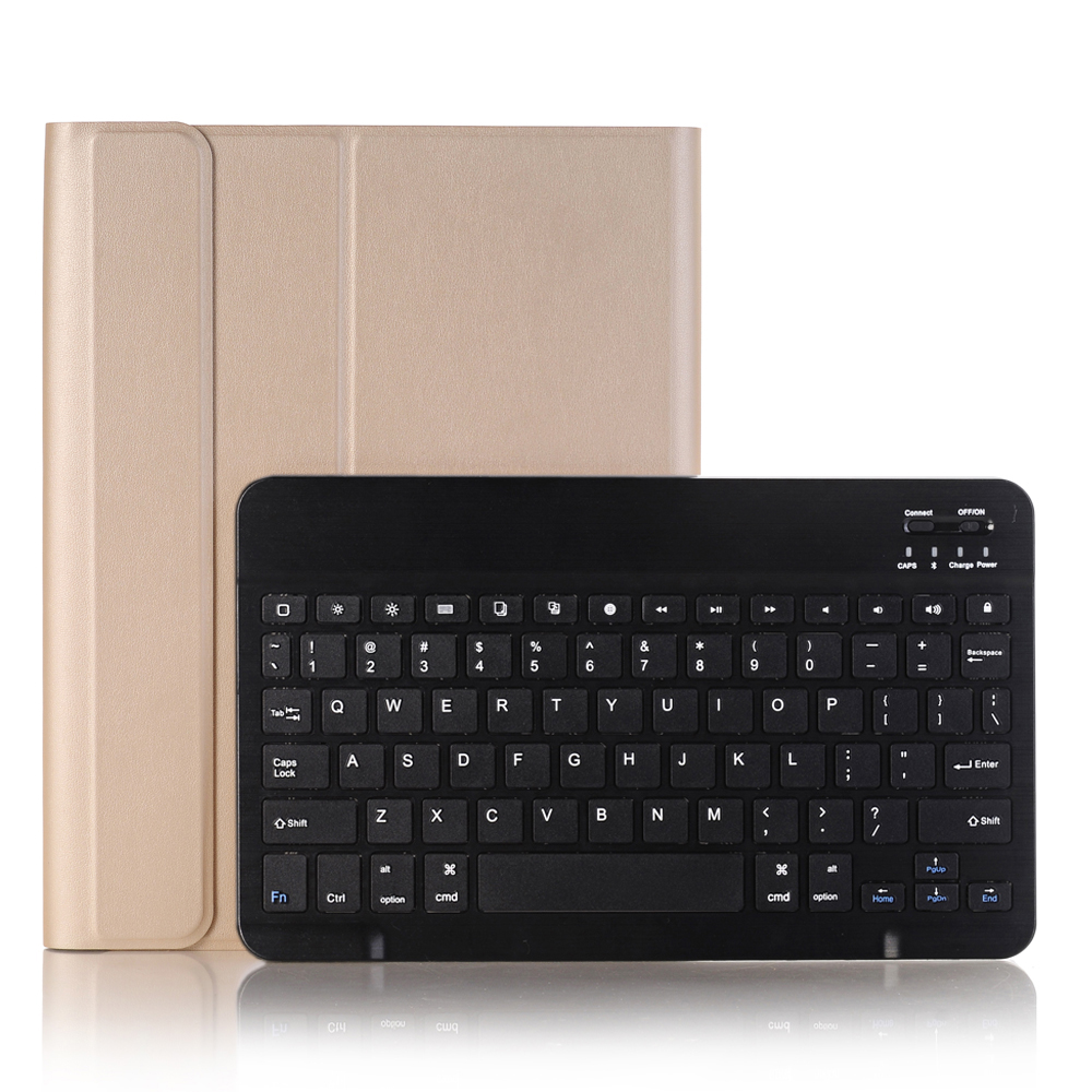 Gold with Black Black For iPad 10 2 2019 2020 Keyboard Case with Pencil Holder for Apple iPad 7th 8th