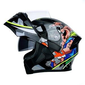 Image 1 - DOT ECE JIEKAI casques de moto, Flip up, pour course de sécurité, pour Motocross, Quad Dirt, 902, nouveau, casque de vélo