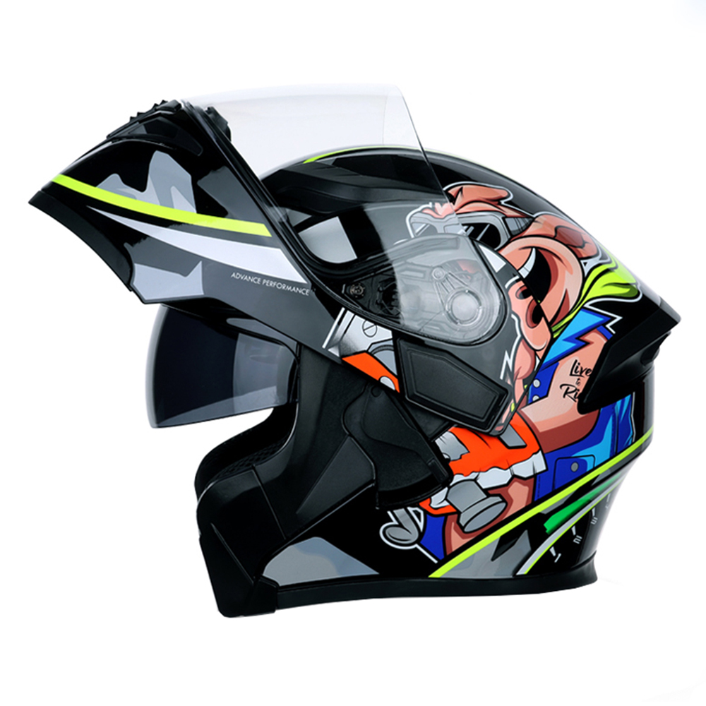 NEW DOT ECE JIEKAI 902 Motorcycle Flip up Winter helmets Safety Racing Motocross Capacete Quad Dirt Bike helmet-in Helmets from Automobiles & Motorcycles