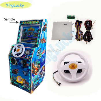 Fire Car 31 in 1 English version racing game board with steering wheel wiring harness for Children outdoor recreation machine