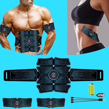 USB Recharge EMS Abdominal Muscle Stimulator Trainer Electrostimulation Fitness Massager ABS Home Gym Abdomen Muscular Exercise