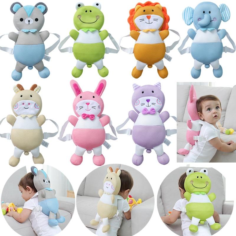 Baby Walking Head Protection Pillow Backpack  Cute Cartoon Bear Rabbit Pillow Plush Dolls Toddler Head Protector Stuffed Toys