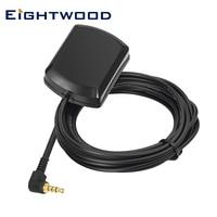 Eightwood Auto GPS Antenne Digital Radio Empfänger 3,5mm Stecker Männlich Rechten Winkel Luft 3m Kabel für AUKEY Papago dash Cams Kamera
