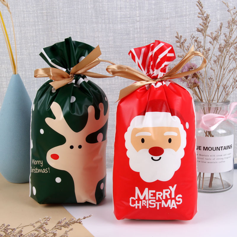 Taste Of Home Christmas 2021 12pcs Christmas Santa Gift Bag Candy Bag New Year 2021 Presents Baking Package Christmas Decorations For Home Navidad 2020 Gifts Stockings Gift Holders Aliexpress
