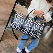 Travel Sport Bag Men Training Shoulder PU Leopard Print For Women Sac De Fitness Waterproof Gym Yoga Handbag