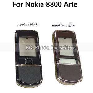 Image 4 - Full Housing For Nokia 8800 Arte Carbon 8800 ARTE Sapphire Back Battery Cover Middle Frame Plate With Keyboard Button