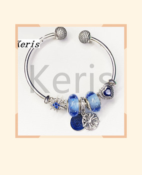 High Quality 1:1 100% Silver Bubble Glazed Star Pendant Bracelet Free Of Charge
