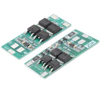 2S 20A 7,4 V 8,4 V 18650 Placa de protección de batería de litio/placa BMS estándar/módulo de celda de equilibrio
