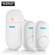 KERUI M518 Wireless Doorbell Home Security Welcome Smart Chimes Door bell LED light 52 Songs with Self power generation Button