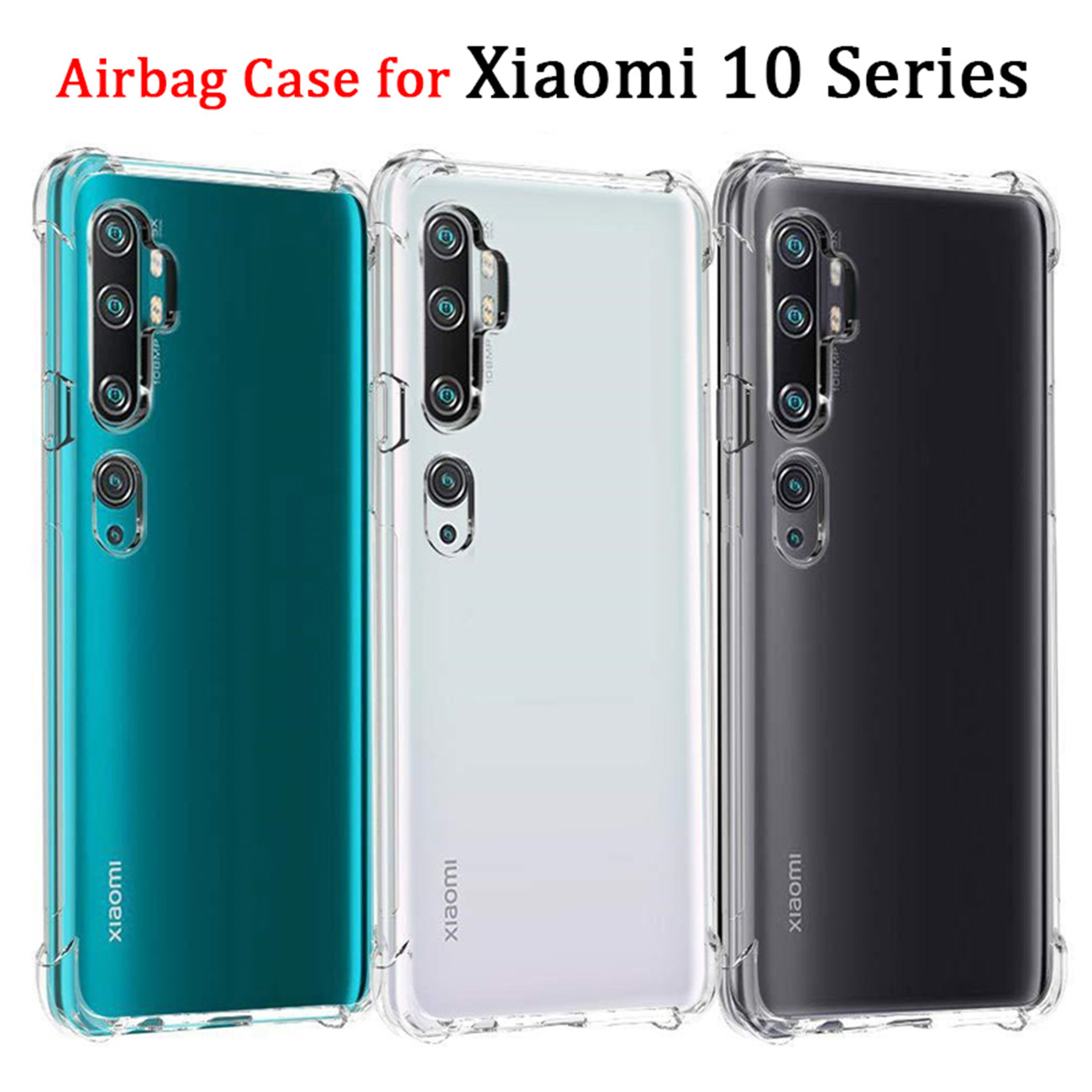 Airbag Armor Case For Xiaomi Mi10 Pro Anti-Fall Case Redmi Note10 Pro Xaomi Mi 10Pro Soft Clear Case Cover Xiomi 10 Note10 Mi-10