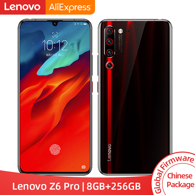 Global ROM Lenovo Z6 Pro 8GB 256GB Snapdragon 855 Octa Core Smartphone 6.39 FHD Rear 48MP Quad Camera 4000mah battery