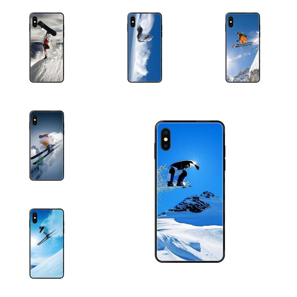 Soft Cover Snow Or Die Ski Snowboard For Galaxy S5 S6 S7 S8 S9 S10 S10e S20 edge Lite Plus Ultra
