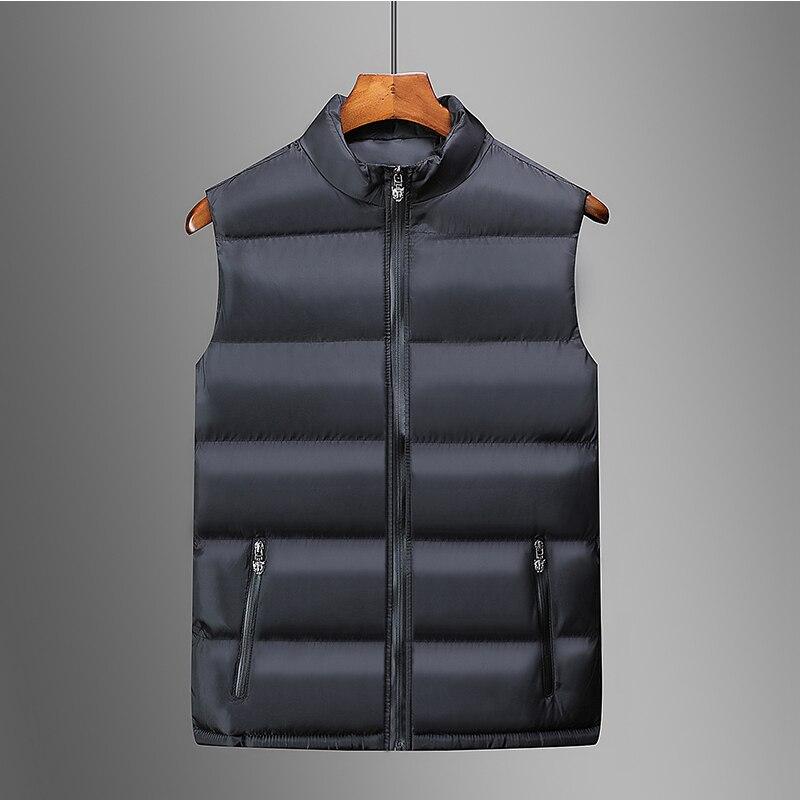 2019 nova masculina sem mangas algodão jaqueta inverno quente colete casual masculino jaqueta quente