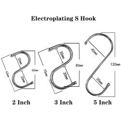 10Pcs/Set Stainless Steel S Hook Kitchen Kitchenware Hook Bedroom Key Hanger Home Sundries Storage Store Display Rack S Hook