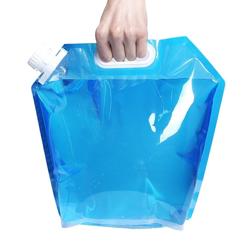 5l 야외 foldable 마시는 물 가방 자동차 물 캐리어 컨테이너 휴대용 대용량 thj99