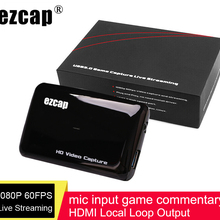Card-Plate Switch Video-Capture Game-Recording XBOX Live-Streaming Phone Tv-Loop Mic-Input