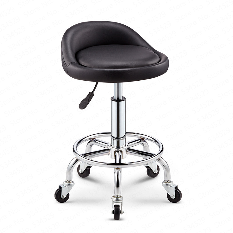 Bar Chair Lift Rotating Bar Stool Home Swivel High Stool Backrest Beauty Metalic Chair Dotomy