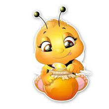 Hot moda okładka zadrapania naklejki samochodowe pszczoły, które jedzą miód Cartoon naklejki winylu akcesoria samochodowe okno bagażnika zderzak 15*10cm