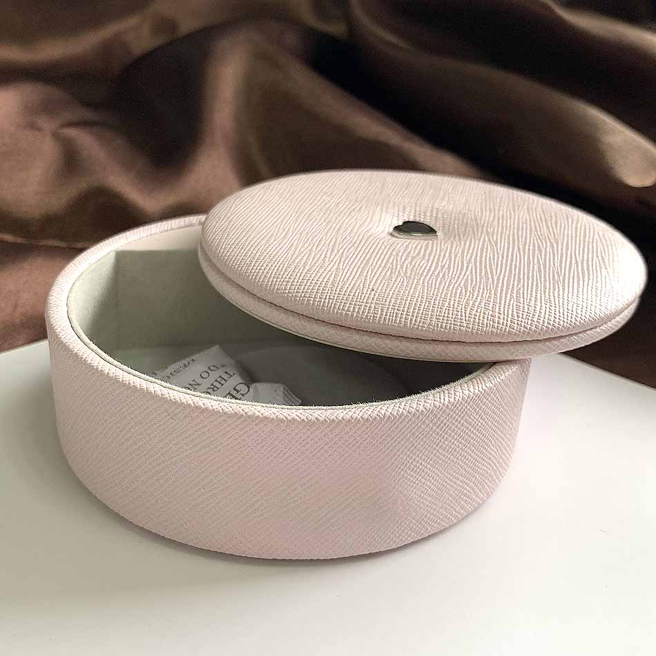 10*10*4 Cm Packaging Pink Leather Round Box Bracelet Jewelry Display Gift Box For Women Europe Diy Velvet Bracelet Box Storage