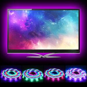 Image 2 - LED ストリップ 2811 IC RGB 5050 Led 柔軟なライト 300 モード 12V スマートストリップリボンテープ HDTV テレビデスクトップ画面のバックライトバイアスライト