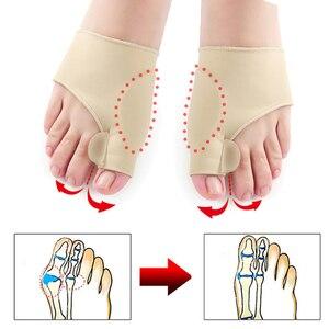 Image 5 - Protecteur dunion des pieds, soins, outil de pédicure, Hallux Valgus, correcteur orthopédique, masseur de pieds, 1 paire = 2 pièces