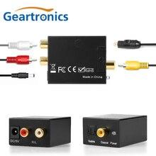 цена на 3.5MM Jack 2*RCA Digital to Analog Audio Converter Amplifier Decoder Optical Fiber Coaxial Signal to Analog DAC Spdif Stereo