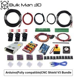 Image 3 - 4 עופרת ציר CNC נתב מכונת ערכת + Mach3 GRBL USB בקר צרור + שרשרת צרור + 4pcs Nema23 מנועים צעד