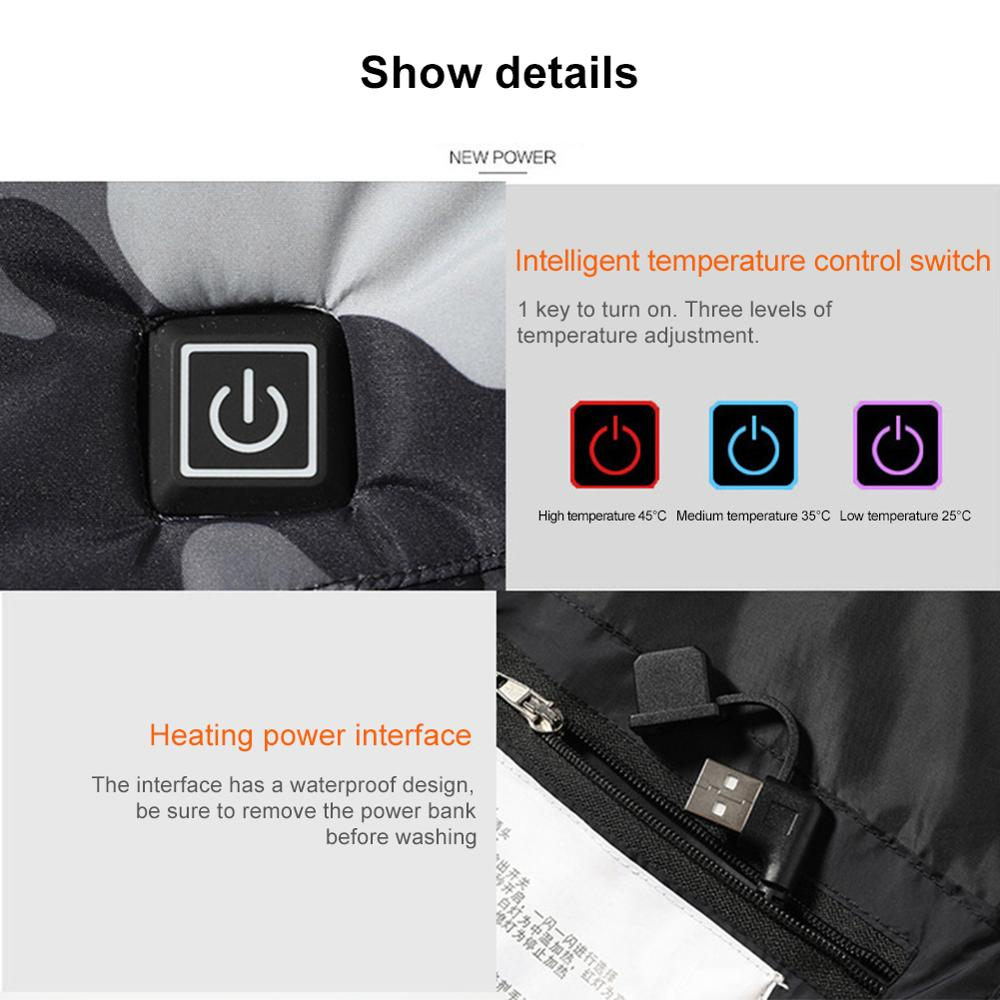 Дети% 27 с подогревом жилет Smart USB инфракрасный электрический с подогревом жилет женский открытый зима теплый обогрев куртка 3 горячие зоны жилет