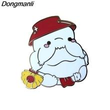 P4800 Dongmanli Kawaii Radish Spirit Ghibli Enamel Pins Brooches Women Fashion Lapel  Backpack Bags Badge Gifts Movie Jewelry