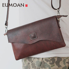 EUMOAN West ancient retro leather bag men British mad Madi shoulder oblique cross package and women handbag