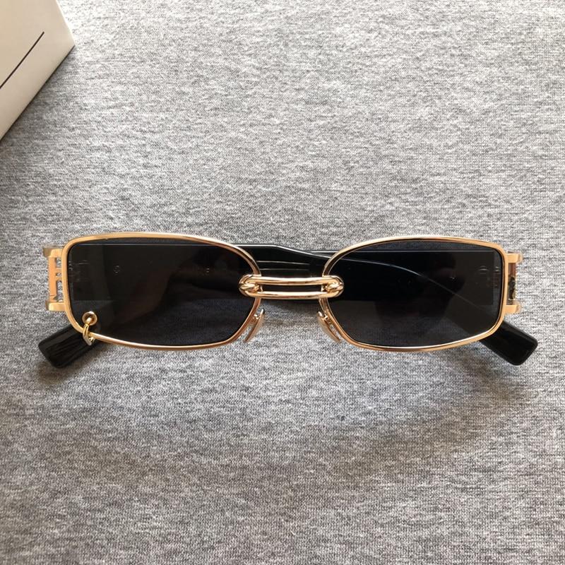 Trend Retro Personality Metal Small Round Frame Sunglasses Black Frame NZ